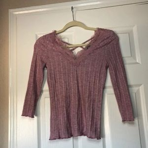 NWOT Small pink quarter sleeve top